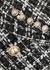 Monochrome metallic-weave tweed jacket - Balmain