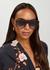 Tortoiseshell D-frame sunglasses - Victoria Beckham