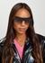 Black D-frame sunglasses - Victoria Beckham