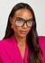 Tortoiseshell D-frame optical glasses - Victoria Beckham