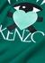 Green embroidered cotton sweatshirt - Kenzo