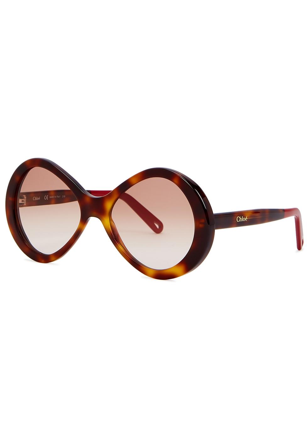 Bonnie tortoiseshell oversized sunglasses