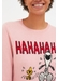 Pink laughing snoopy cashmere-wool sweater - Chinti & Parker