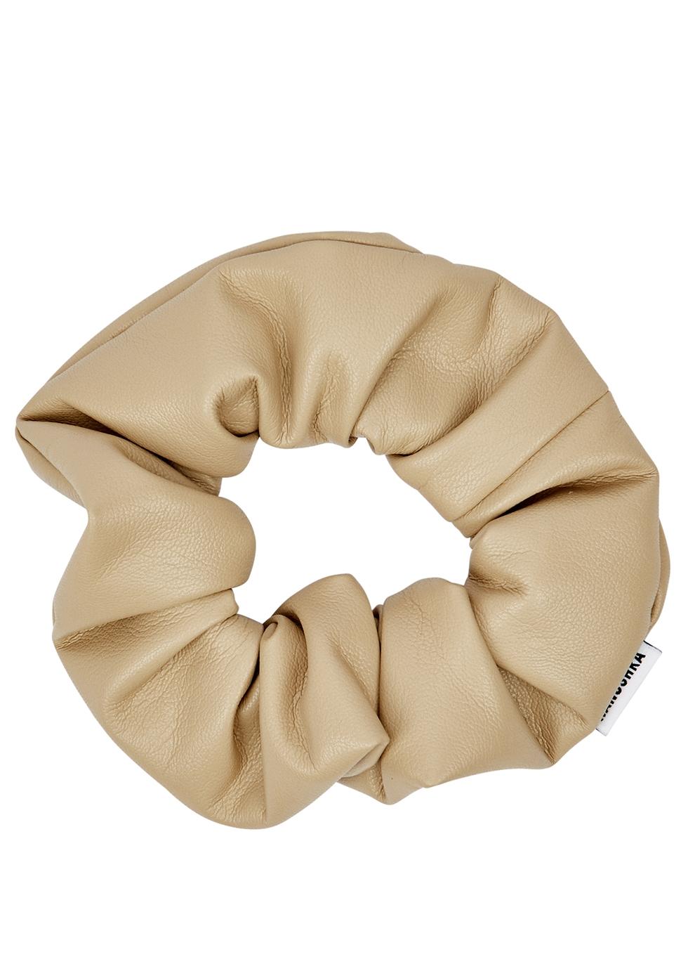 Lou Stone Faux Leather Scrunchie by Nanushka