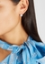 Solitaire heart crystal-embellished earrings - FALLON