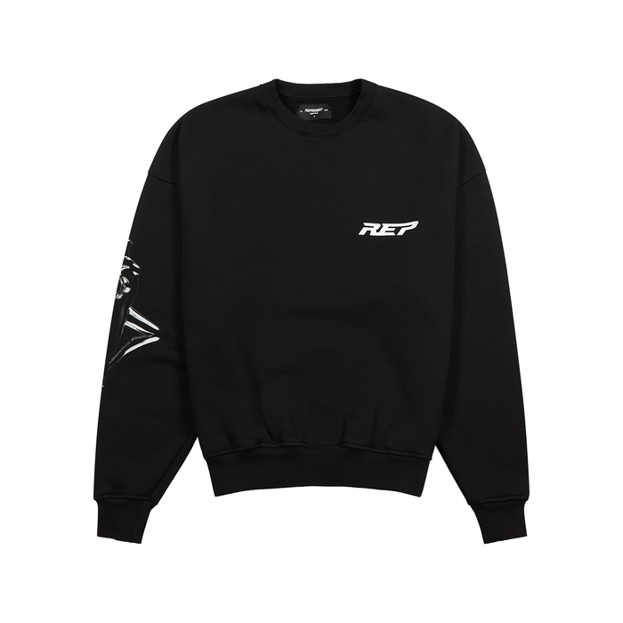 Represent Black Printed Cotton Sweatshirt