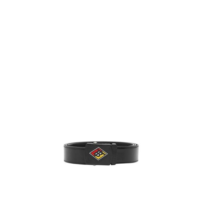 Burberry Logo Graphic Plaque Buckle Canvas Belt