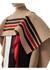 Striped wool cashmere blend cape - Burberry