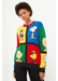 Multi-colour peanuts pop cotton sweater - Chinti & Parker