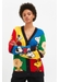 Multi-colour peanuts pop cotton cardigan - Chinti & Parker
