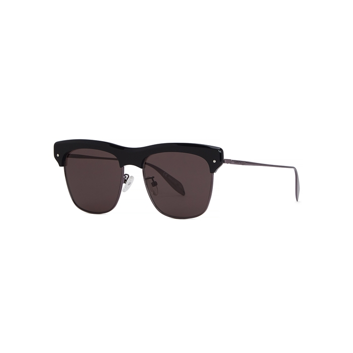 Alexander McQueen Black Wayfarer-style Sunglasses