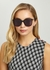 Black oversized sunglasses - Bottega Veneta