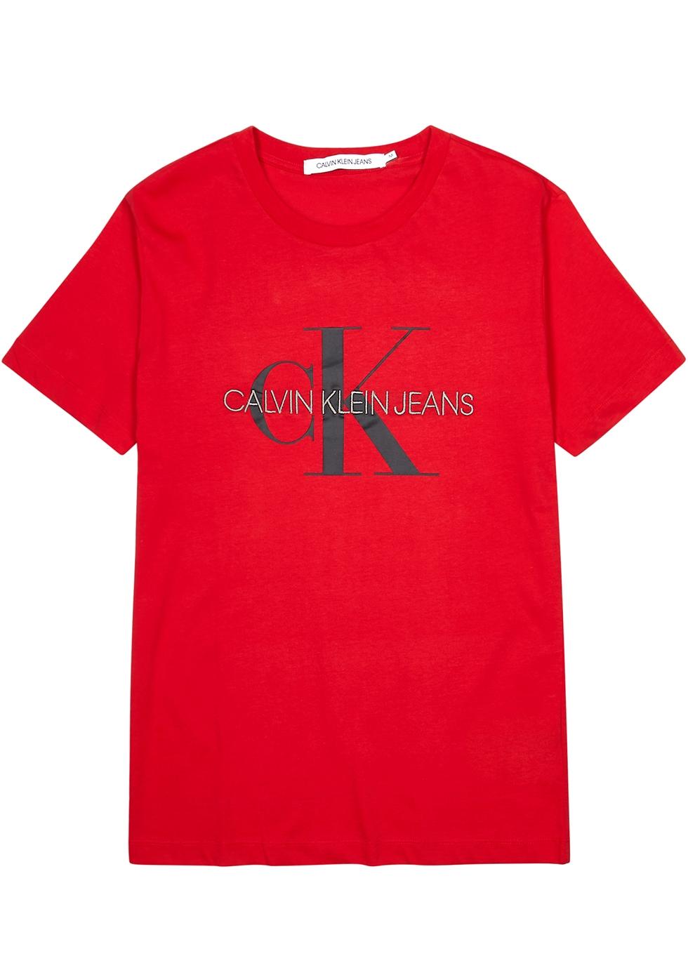 Red logo cotton T-shirt