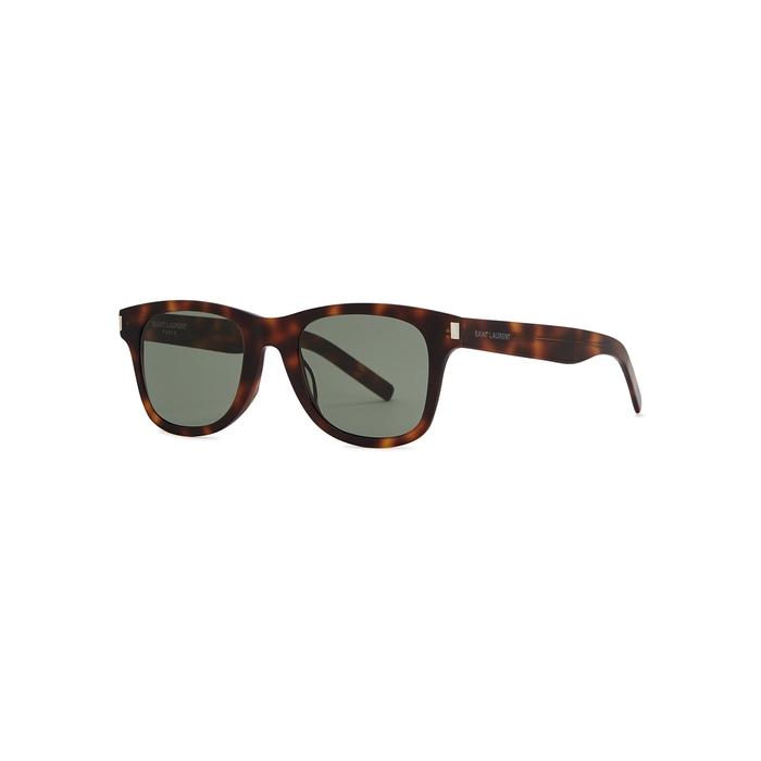 Saint Laurent SL 51 Tortoiseshell Wayfarer-style Sunglasses