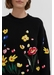 Black charleston embroidered merino wool sweater - Chinti & Parker