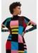 Multicolour eccentric wool-cashmere sweater dress - Chinti & Parker