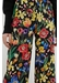 Black charleston floral print silk trousers - Chinti & Parker