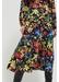 Black charleston floral-print silk skirt - Chinti & Parker