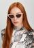 Light pink cat-eye sunglasses - Stella McCartney