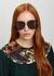 Black oversized sunglasses - Stella McCartney