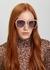 Pink oversized sunglasses - Stella McCartney