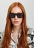 Black rectangle-frame sunglasses - Stella McCartney