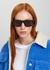 Black rectangle-frame sunglasses - Stella McCartney