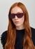 Dark pink rectangle-frame sunglasses - Stella McCartney