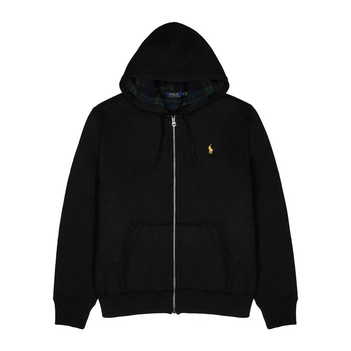 Polo Ralph Lauren Black Fleece-lined Cotton-blend Sweatshirt