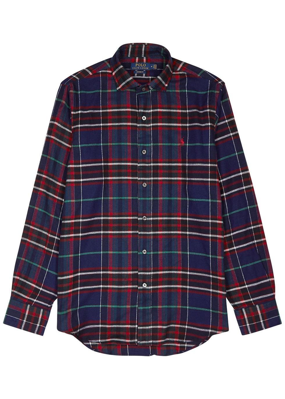 Checked slim-fit cotton shirt