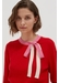 Red tie neck cashmere-wool sweater - Chinti & Parker