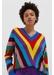 Multicolour virginia striped wool-cashmere sweater - Chinti & Parker