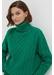 Green pop aran merino wool sweater - Chinti & Parker