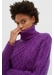 Purple pop aran merino wool sweater - Chinti & Parker