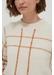 Cream contrast check merino wool sweater - Chinti & Parker