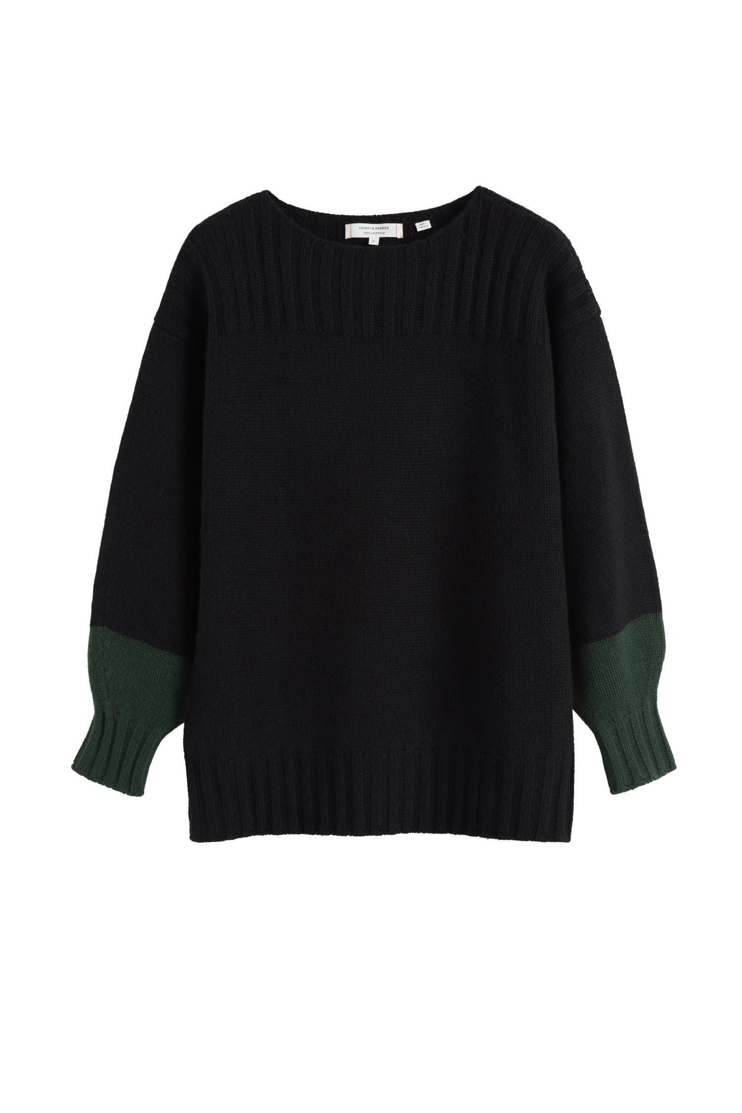 Shop Chinti & Parker Black Belle Cashmere Sweater