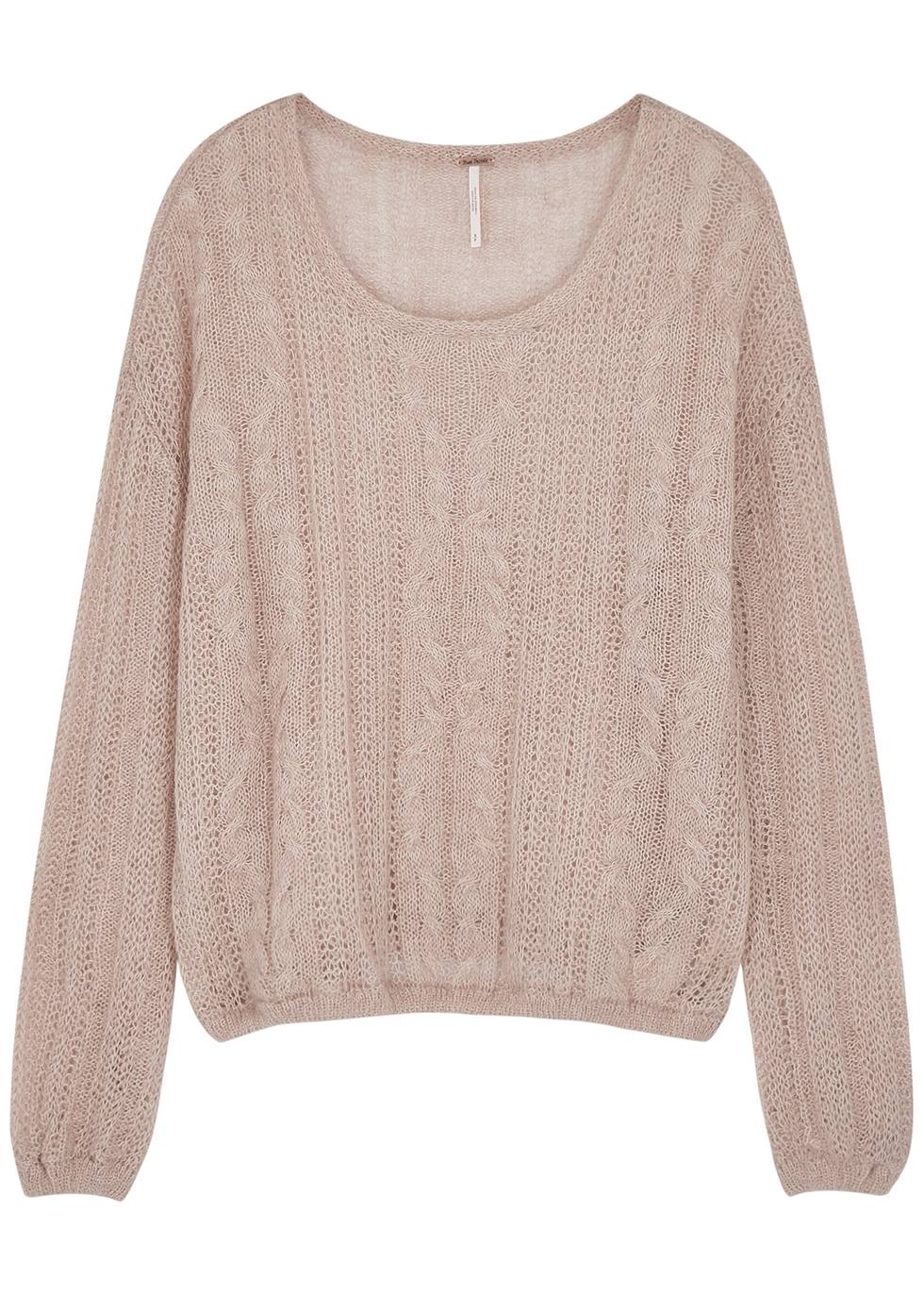 Angel pink open-knit jumper