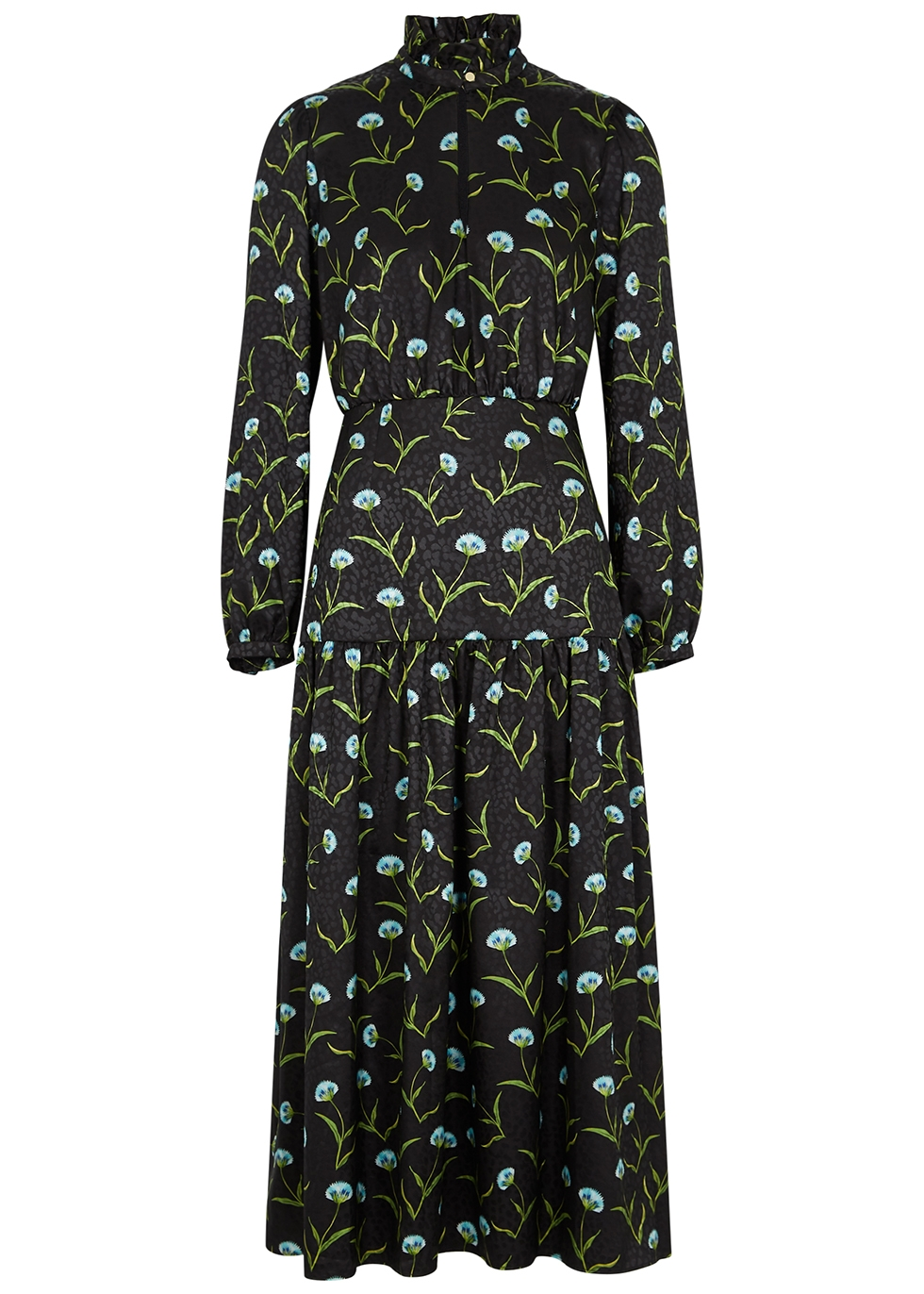 Eugenia floral-print satin midi dress