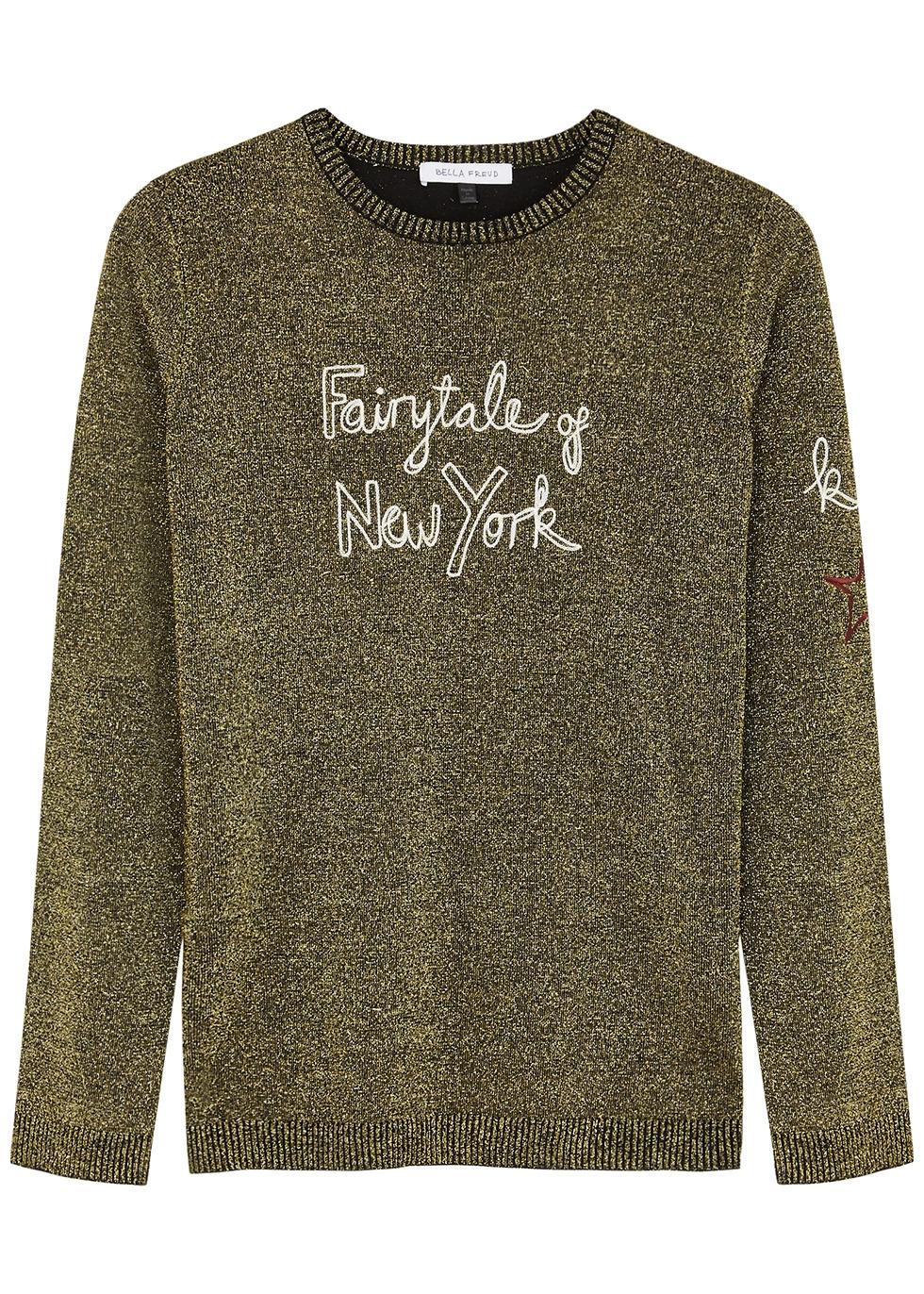 Fairytale Of New York metallic-knit jumper