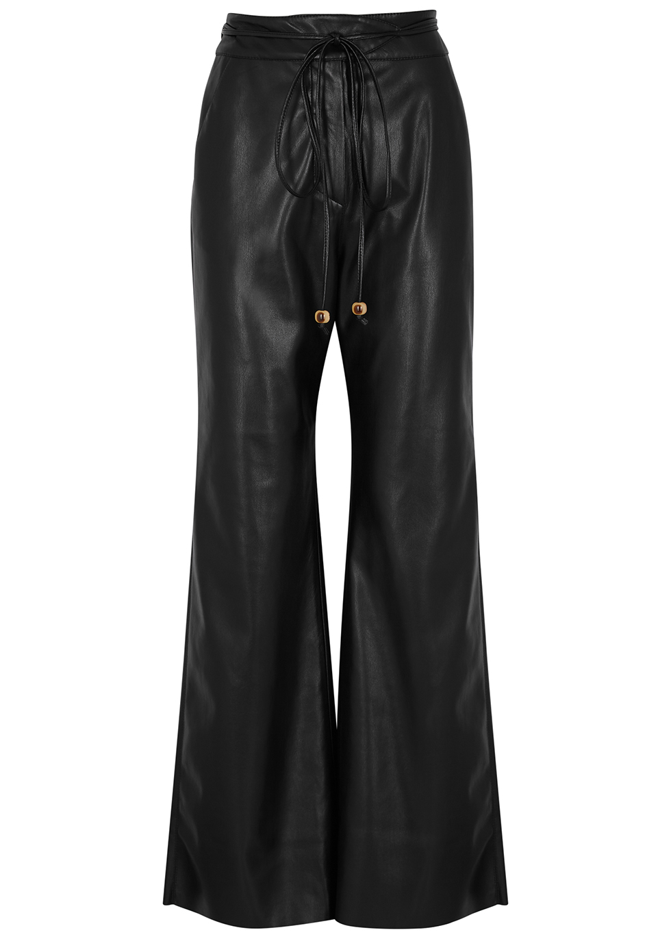 Chimo wide-leg faux leather trousers