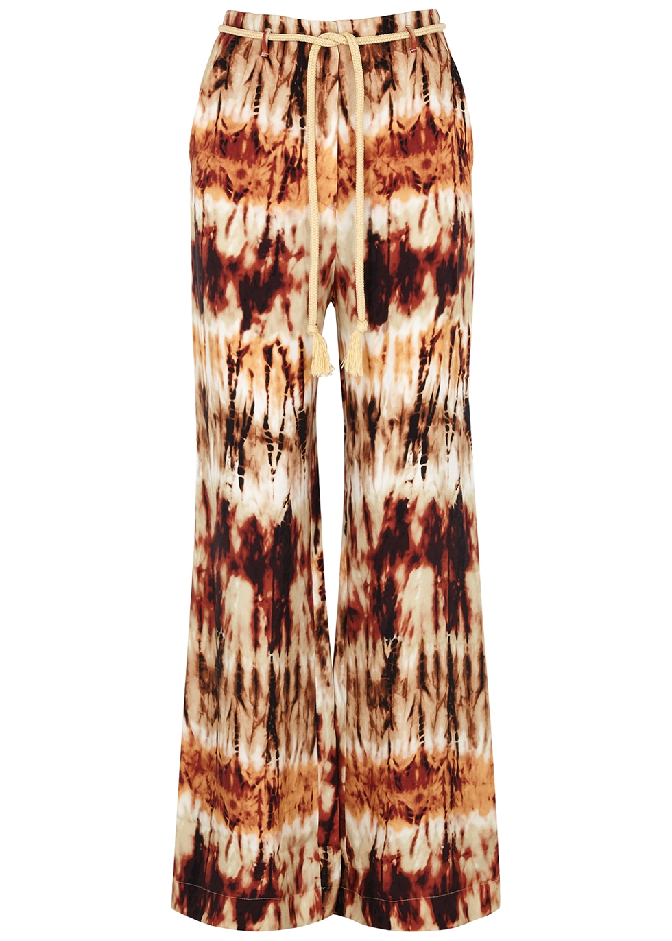 Giada tie-dyed brushed satin trousers