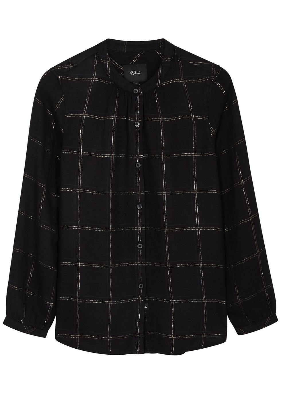 Eloise black checked shirt