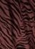 Veda burgundy tiger-print midi skirt - Rails