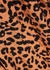 Katheryn brown jaguar-print shirt - Rails