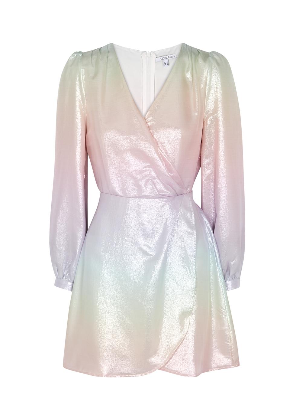 Meg metallic dégradé silk mini dress