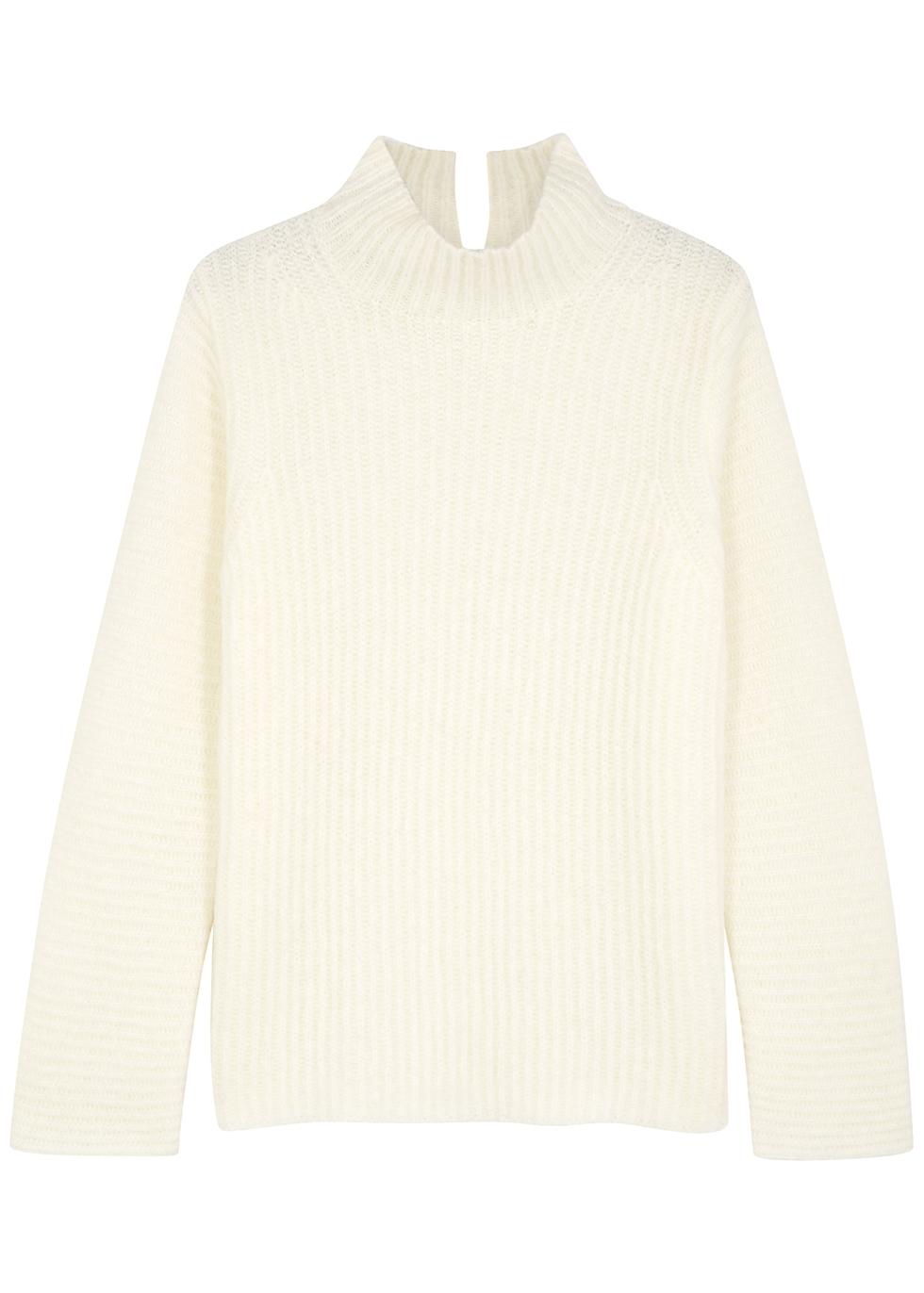 Ghost ivory wool-blend jumper