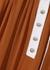 Rust panelled georgette midi skirt - Chloé