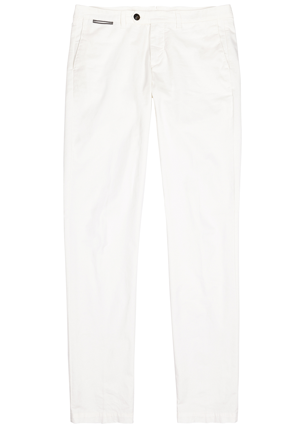 White stretch-cotton chinos