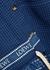 Blue fringed hooded cotton cardigan - Loewe