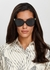 Black cat-eye sunglasses - Tom Ford Eyewear
